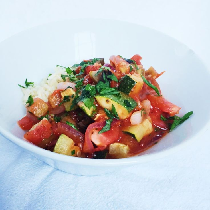 But Ratatouille truly is an incredible summer dish if you think about it. Let me back up here for a second… what exactly is Ratatouille, Marlee??? Ratatouille is an amazingly clean and light French dish, seeing as how the French really love their butter and cream, but it is more or less a vegetable stew of eggplant, tomatoes, peppers, and zucchini! Throw some fresh herbs, like thyme and parsley, and you've got yourself a Ratatouille!