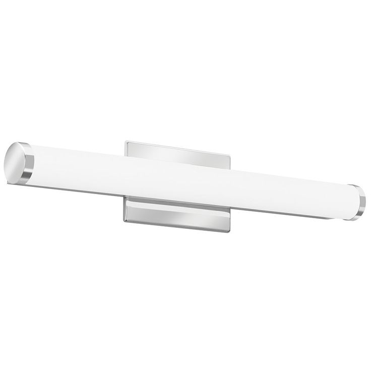Lithonia Lighting Contemporary Cylinder 2-foot Chrome LED Vanity Light