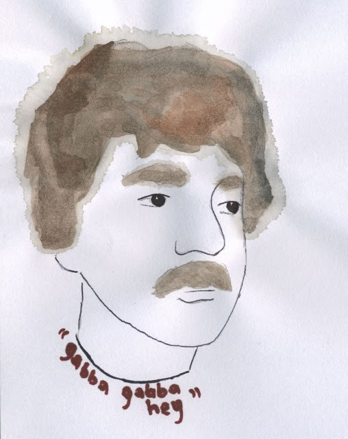 Wardog #illustration #ramones #wardogs  http://dettapini.blogspot.it/2012/08/gabba-gabba-hey.html