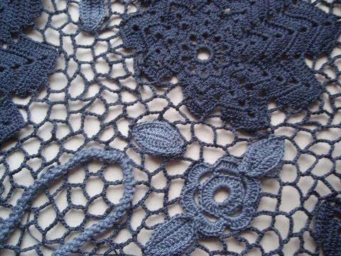 Video on doing the lacing part of Irish crochet.   СЕТКА В ИРЛАНДСКОМ КРУЖЕВЕ СРАВНЕНИЕ ПРЯЖИ - YouTube