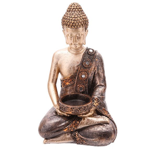Thai Buddha Figurine Home Decorative Tea Light by getgiftideas