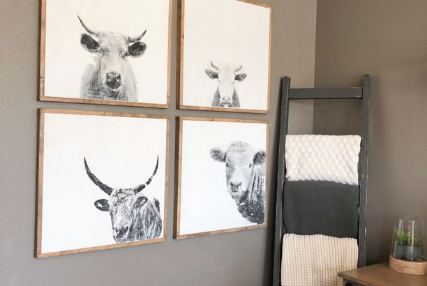 DIY Cow Wall Art