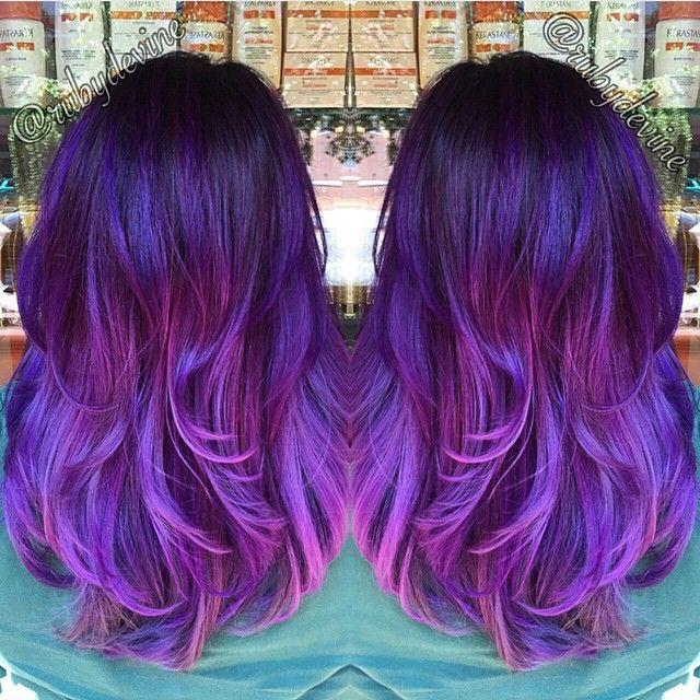 Loving this Smoked Lavender color melt by @rubydevine Color: #pravana #hotonbeauty @hotonbeauty Hot Beauty Magazine
