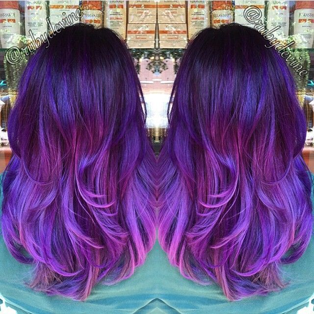 Loving this Smoked Lavender color melt by @rubydevine Color: #pravana #hotonbeauty @hotonbeauty Hot Beauty Magazine