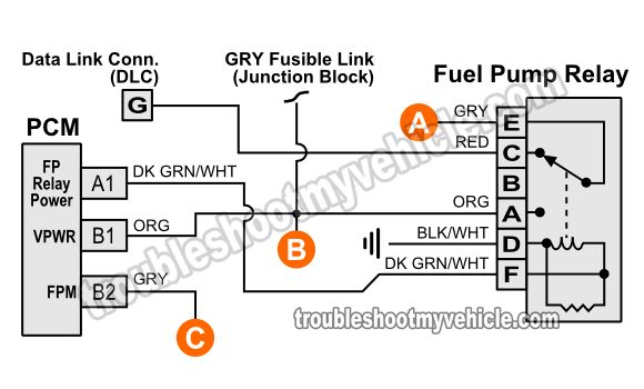 Fuel Pump Relay Wiring Diagram  1994 Chevy Pickup 4 3l  5 0l  5 7l