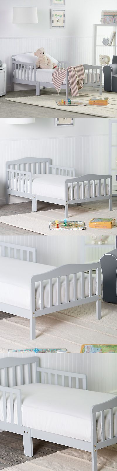 Kids Furniture: Orbelle Contemporary Solid Wood Toddler Bed -, Grey BUY IT NOW ONLY: $58.98