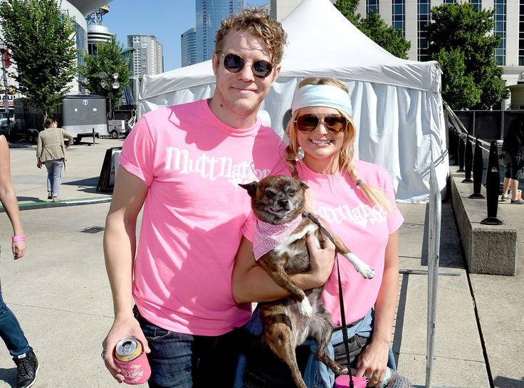 Miranda Lambert & bf Anderson East don aviator and round shades while heading to MuttNation in Nashville.