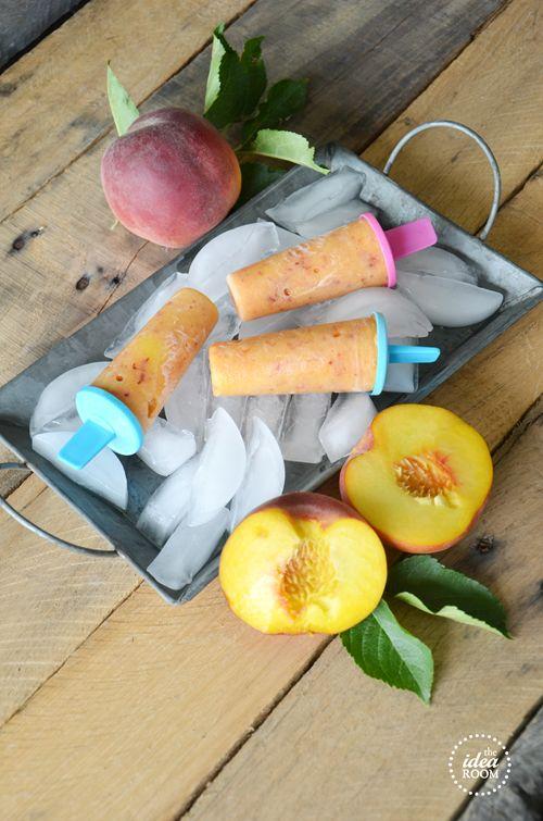 Peach popsicles. Hello delicious!