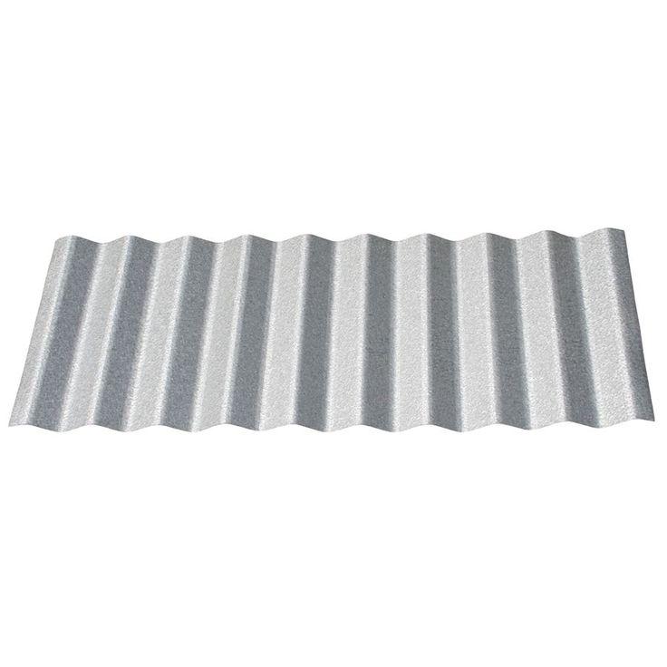 Union Corrugating 2.33-ft x 12-ft Corrugated Steel Roof Panel. $30/sheet