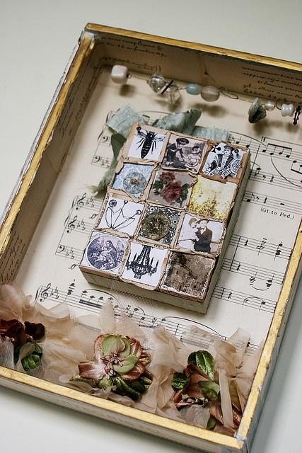 cigar box collage