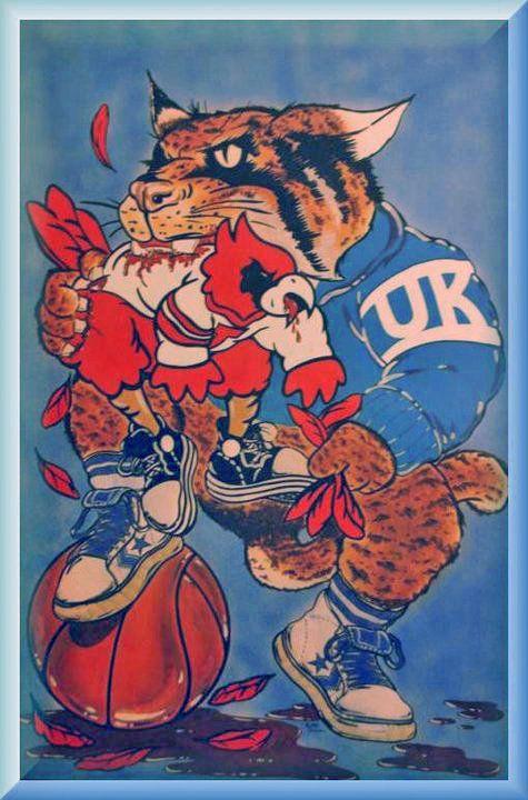 Kentucky vs. louisvile KY always wins.louisville doesn't deserve a capital letter. lol