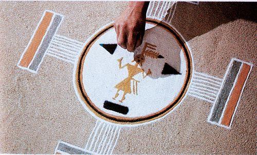 Navajo sand painting National Geographic No photo credit