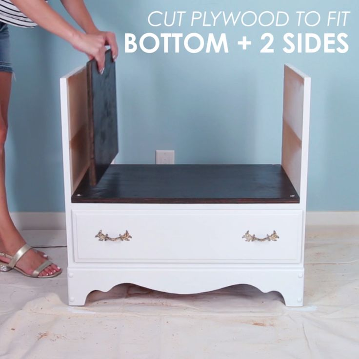 Recycled Dresser Storage Bench