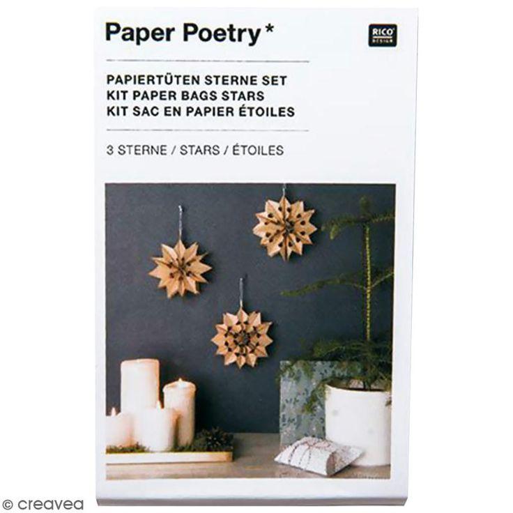 Compra nuestros productos a precios mini Kit estrellas bolsas de papel modelo pequeño - Paper poetry - Kraft - Entrega rápida, gratuita a partir de 89 € !