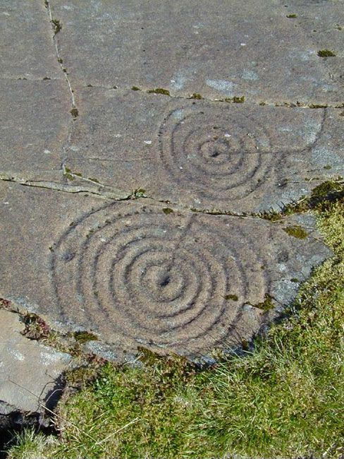 Cup and ring marks - Early people - Scotlands History Cup and ring is a form of prehistoric art found widely throughout the world from India to Brazil.  The best Scottish examples are at Balnachraig (Kilmartin Glen, Argyll), Beauly (near Inverness), and Dalgarven Mill (near Kilwinning).