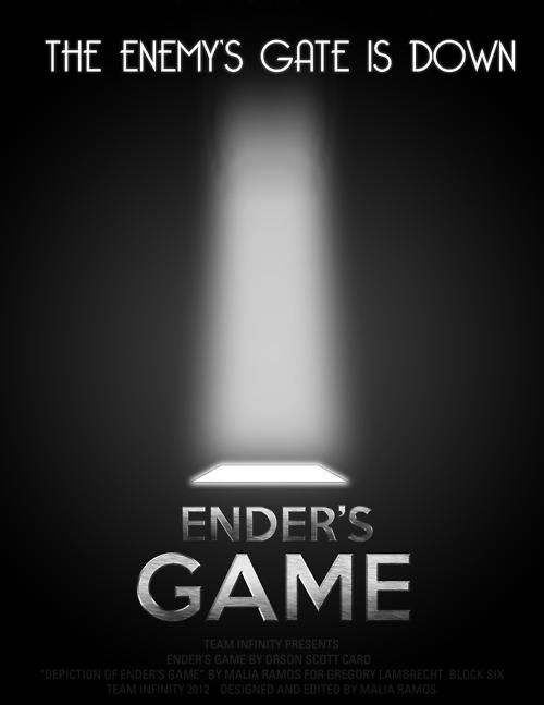 Here's a simple but cool teaser poster that's hit the internet for Gavin Hood's Ender's Game.