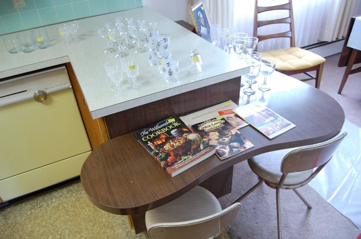 1960's time capsule kitchen counter
