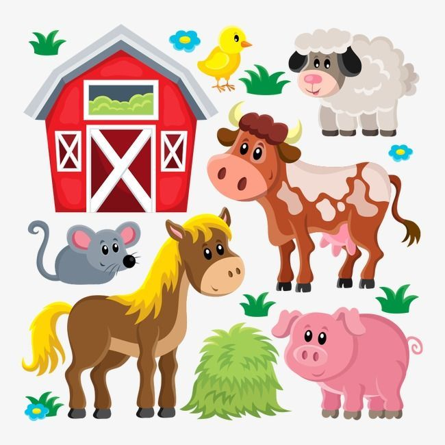 Vector Farm Animals Farm Clipart Vector Farm Farm Png And Vector With Transparent Background For Free Download Farm Cartoon Farm Animals Animals Images