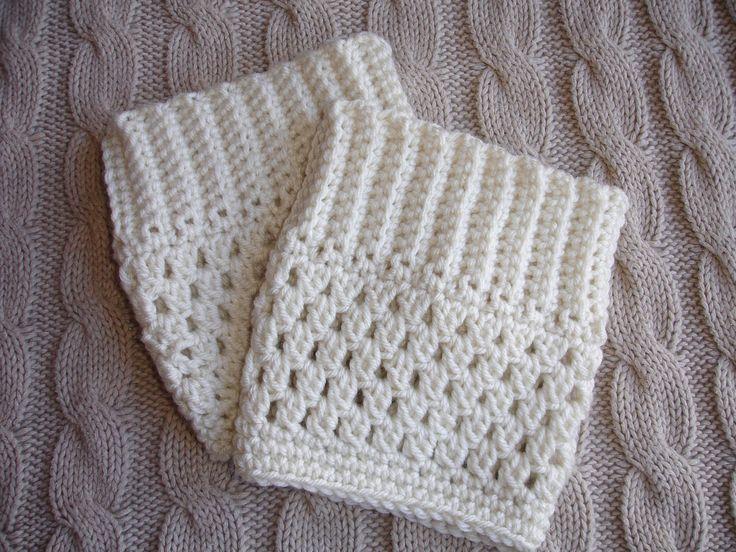 Knitted Pouffe Patterns : Tutorial for Crochet Pattern Boot Cuff Boot Topper Pattern DIY Instan?