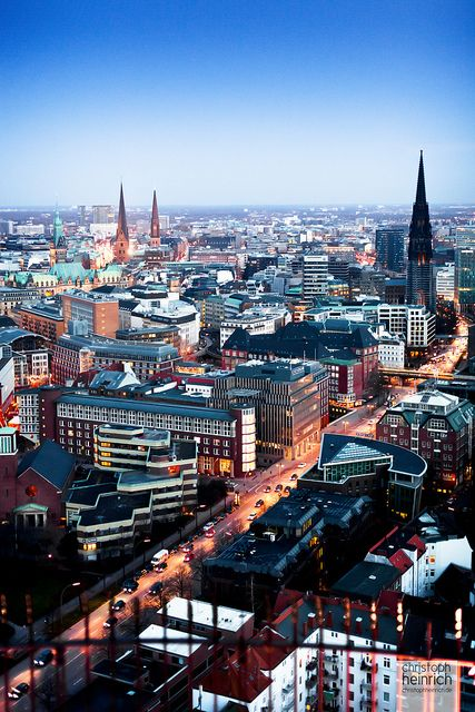 View over Hamburg, Germany- can't wait to see this in person