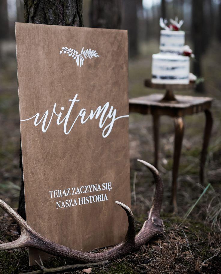 Welcome to Our Wedding Sign. Ślubna tablica powitalna.