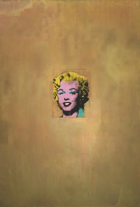"#AndyWarhol  Gold Marilyn Monroe, 1962. Silkscreen ink on synthetic polymer paint on canvas, 6' 11 1/4"" x 57"" Gift of Philip Johnson. © 2012 Andy Warhol Foundation for the Visual Arts/Artists Rights Society (ARS), New York, Collection of The Museum of Modern Art, New York"