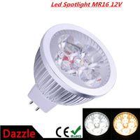 super brillante 15w 9w 12w mr16 lámparas led 12v luz regulable focos led cálido/natural/blanco frío mr16 downlight