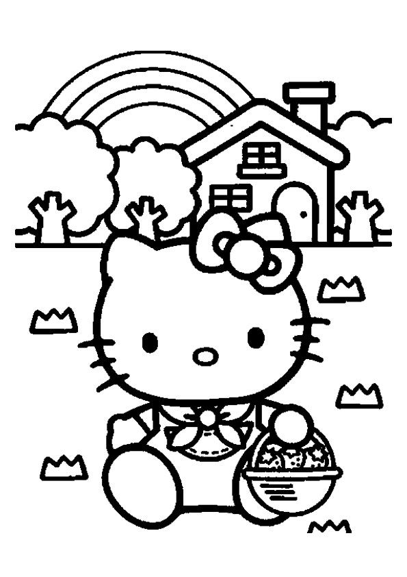 Hello Kitty With Gift Box Coloring Page Hello Kitty Coloring Kitty Coloring Hello Kitty Colouring Pages