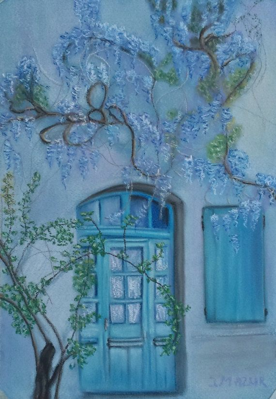 The piece of Greece Wall art Original artwork by by JaneMStudio
