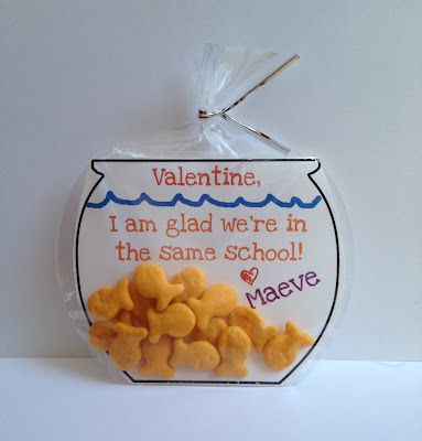 Goldfish valentinesValentine'S Day, Valentine Day Ideas, For Kids, Cute Ideas, Valentine Cards, Parties Favors, Valentine Ideas, Finding Nemo, Goldfish Valentine