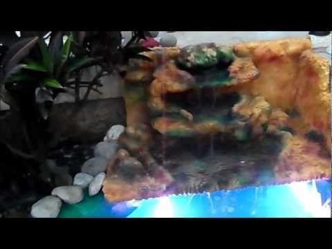 ESTANQUE CON CASCADA CASERA - YouTube