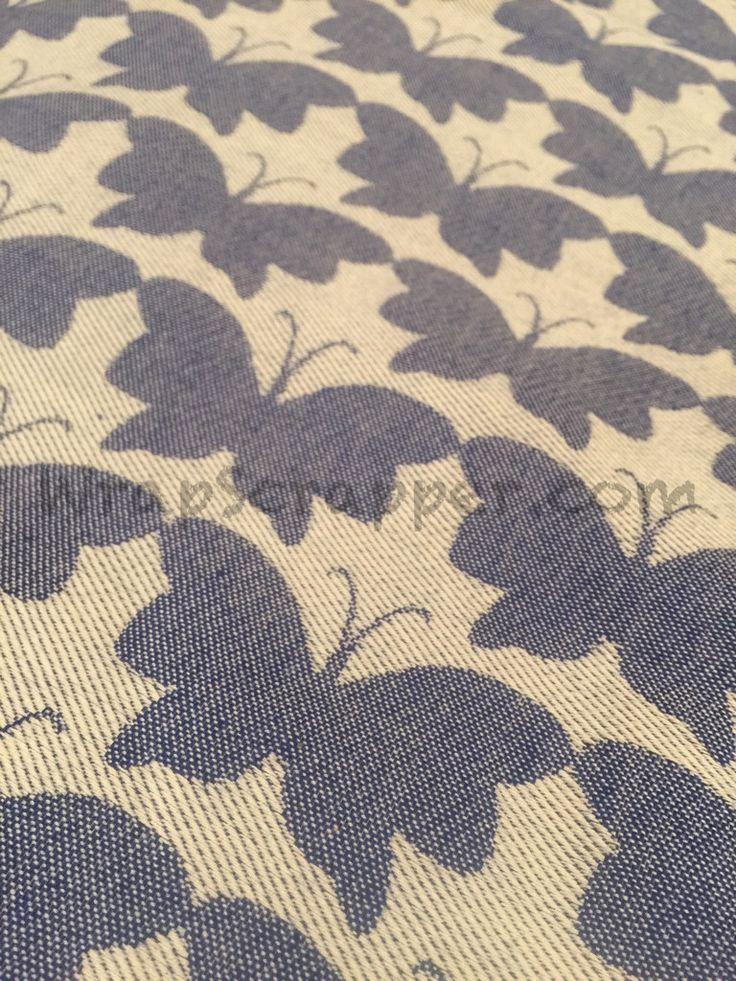 Yaro Butterflies Dark Blue Wrap Scrap
