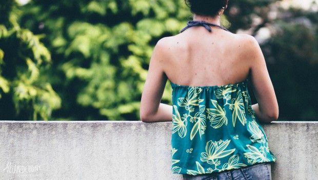 """""""Jungle Flowers"""" von Lillestoff und Kluntjebunt als Sommerliebe-Top, mit Tutorial"""