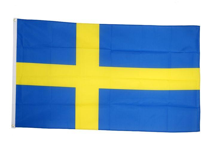 Drapeau Suède - 90 x 150 cm - maison-des-drapeaux.com