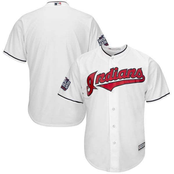 Cleveland Indians Majestic Youth 2016 World Series Bound Cool Base Team Jersey - White - $64.99