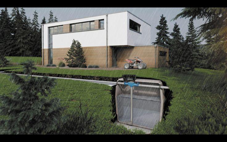 Cuve de récupération d'eau de pluie / enterré - WATERFIX® - Eloy Water