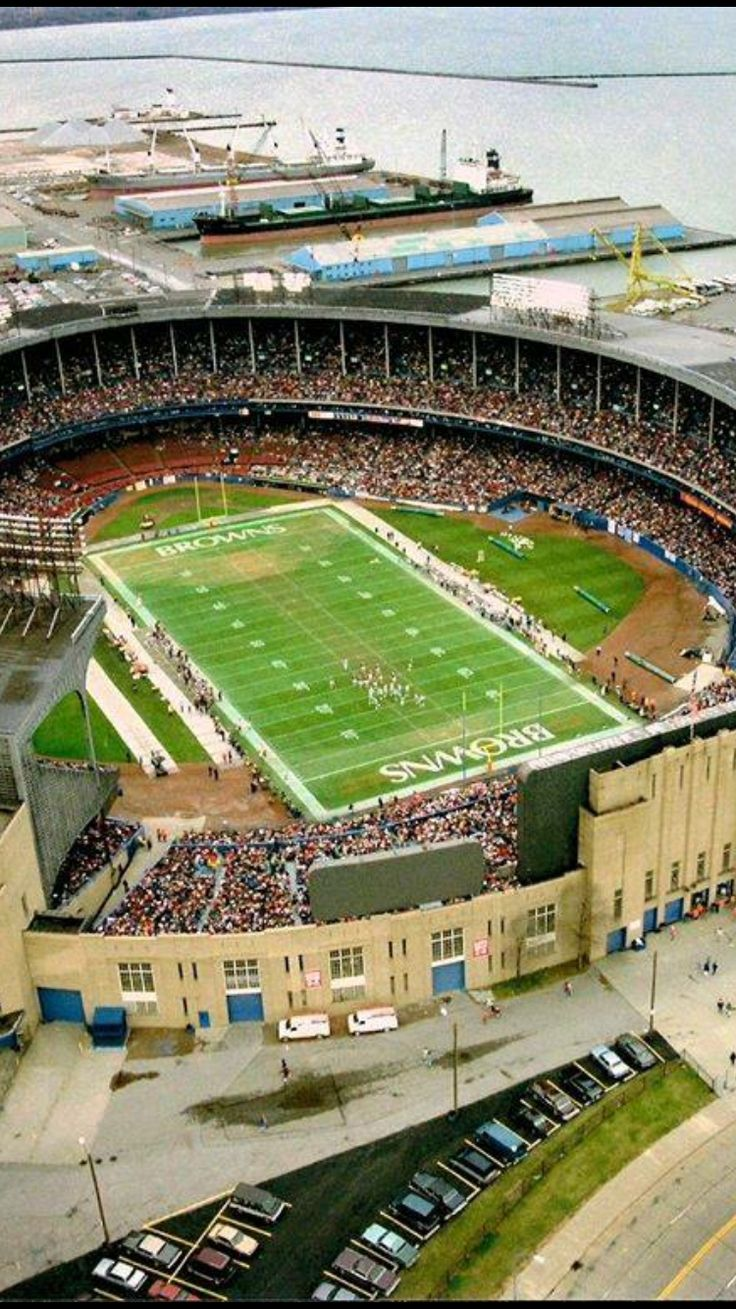 Cleveland Municipal Stadium. I remember going here to see the Indians as a kid. And flipping out when I found out our football team played there also.
