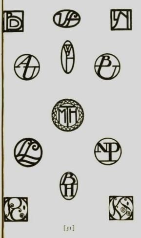 """from """"How to Design Monograms,"""" 1927  ~by~ Elizabeth and Curtiss Sprague"""