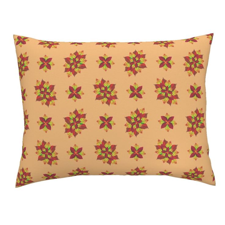 Autumn_leaves_floral on Campine by karwilbedesigns | Roostery Home Decor
