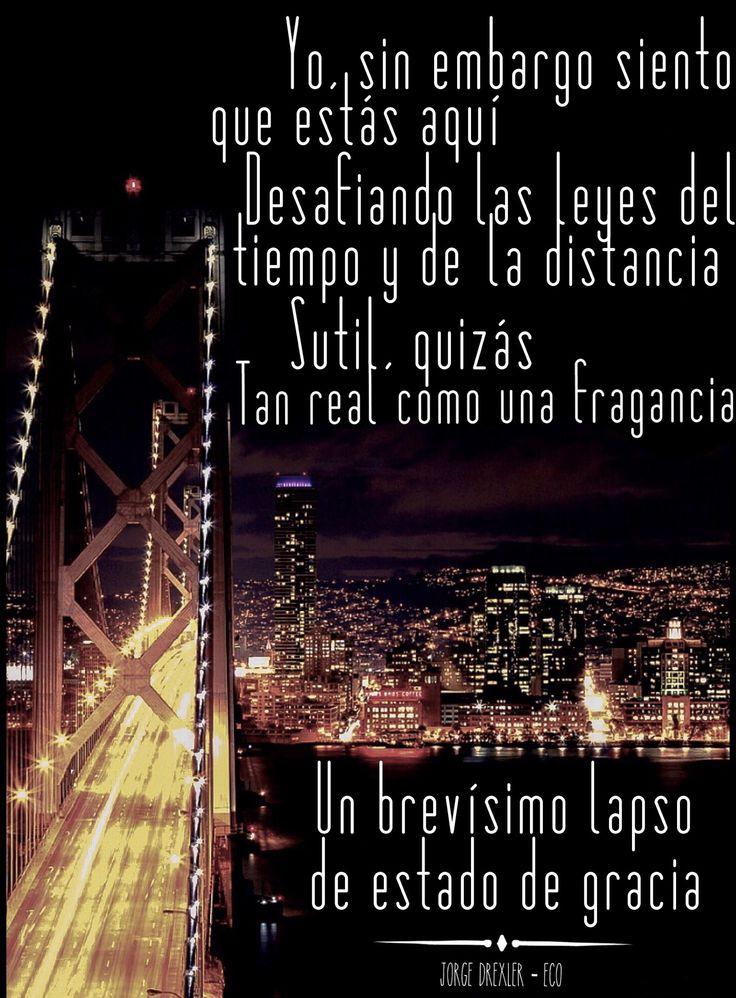 """One of the best songs of Jorge Drexler, a talented uruguayan artist! """"Esto que canto ahora continuará...."""" Tan real como una fragancia <3"""