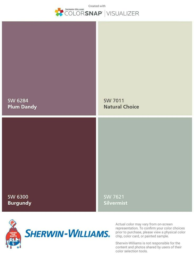 condo color pallete? thinking bedroom(plum), living room(nat), kitchen/accent wall(burgundy), bathroom (silvermist)
