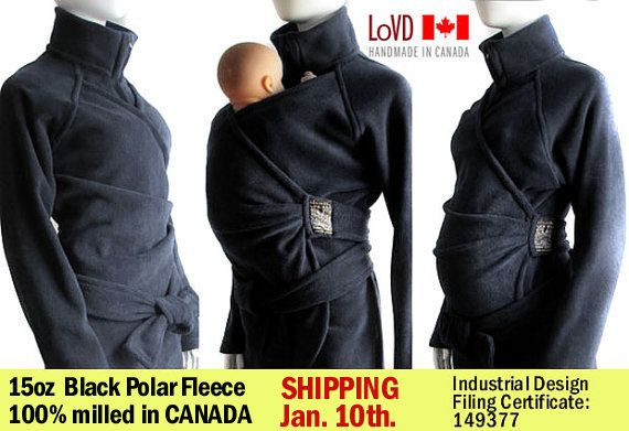 How freaking cool is this coat? Can be worn while pregnant, after the baby, and wearing a carrier with the baby!