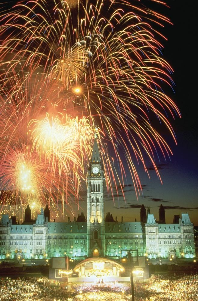 Fireworks on Parliament Hill - Ottawa, Ontario via Travel Destination Bucket List