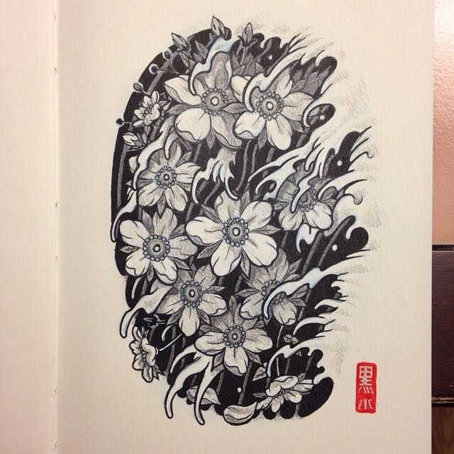 Another sketch study done. Next! ‪#‎sketch‬ ‪#‎ink‬ ‪#‎inktober‬ ‪#‎inktober2014‬ ‪#‎art‬ ‪#‎illustration‬ ‪#‎drawing‬ ‪#‎sketchbook‬ ‪#‎draw‬ ‪#‎japanese‬ ‪#‎tattoo‬ ‪#‎cherryblossom‬ ‪#‎irezumi‬