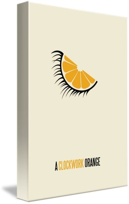 """""""A Clockwork Orange"""" by Matt Owen: Minimalist film poster for the movie 'A Clockwork Orange' // Buy prints, posters, canvas and framed wall art directly from thousands of independent working artists at Imagekind.com."""