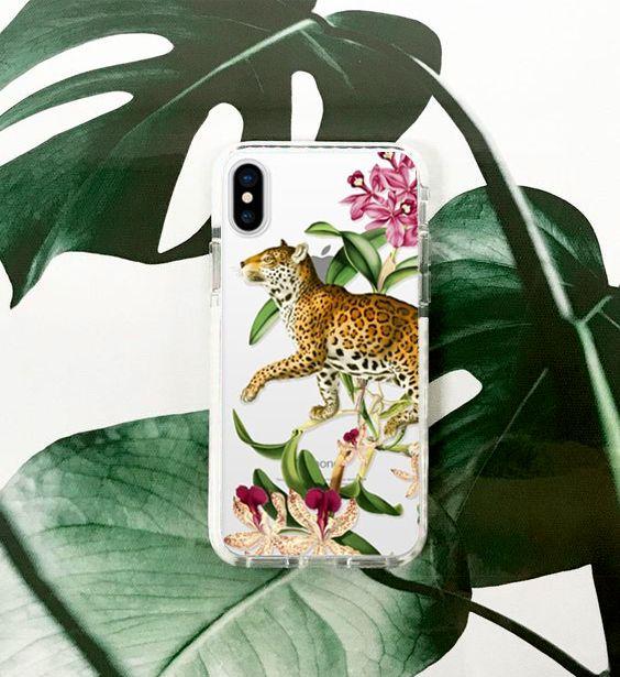 Leopard iPhone case! Available in many phone models! #fifikoussout #leopard #cat #print #iphoneX #iphoneXcase