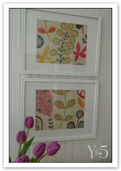 Fabric in Frames, easy and cheap artwork