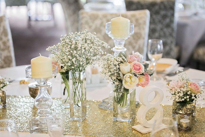 Wedding of the Week: Fallyn Petherick and Grant Bevington | Queensland, Australia wedding (Sunshine Coast) | Gypsophila and roses wedding table setting | weddingsite.co.uk