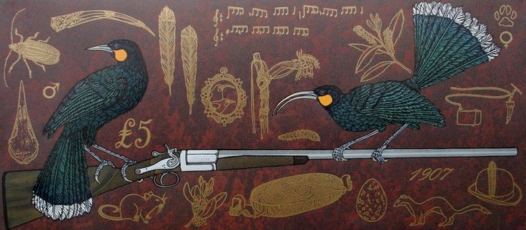 Jo Ogier, 'The Huia's Lament', Relief Print on 430 x 960 mm paper, from an edition of 10, 2010.