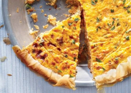 Low-Calorie Phyllo Quiche with Carrots | Vegetarian Times - Take away the phyllo and use fat free cheese!